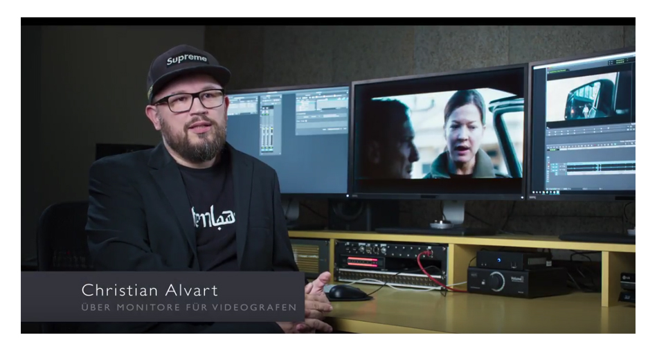 Der deutsche Regisseur, Drehbuchautor und Filmproduzent Christian Alvart vertraut bei seinen Filmproduktionen auf die BenQ VideoVue Serie. Bei seiner Arbeit ist ihm vor allem eine präzise Farbwiedergabe wichtig. Aus diesem Grund werden vor jedem großen Projekt seine BenQ Monitore Hardwarekalibriert und die Farbprofile im Nachgang individuell mithilfe des Hotkey Pucks gespeichert. Zudem bedeuten die 32'' der Monitore der VideoVue Serie einen großen Mehrwert für Christian Alvart, da so verschiedene Programme parallel auf nur einem Bildschirm verteilt genutzt werden können. Dies beschleunigt aus seiner Sicht den Workflow eines jeden Editors erheblich.