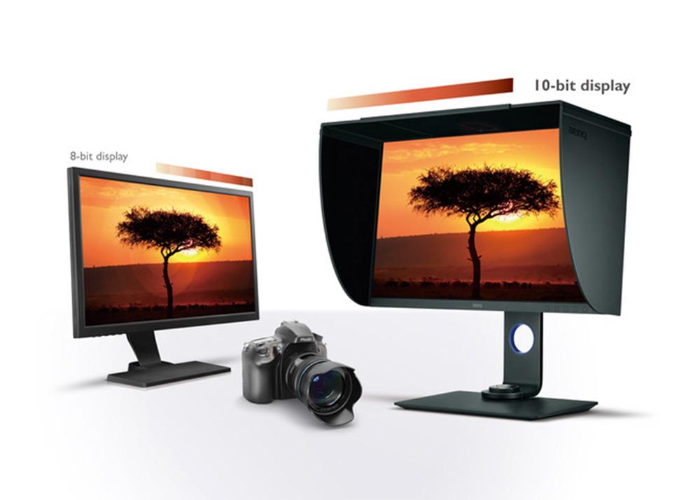 Mit einem 10-Bit Display werden Ihre Fotografien lebensecht und detailgetreu wiedergegeben.