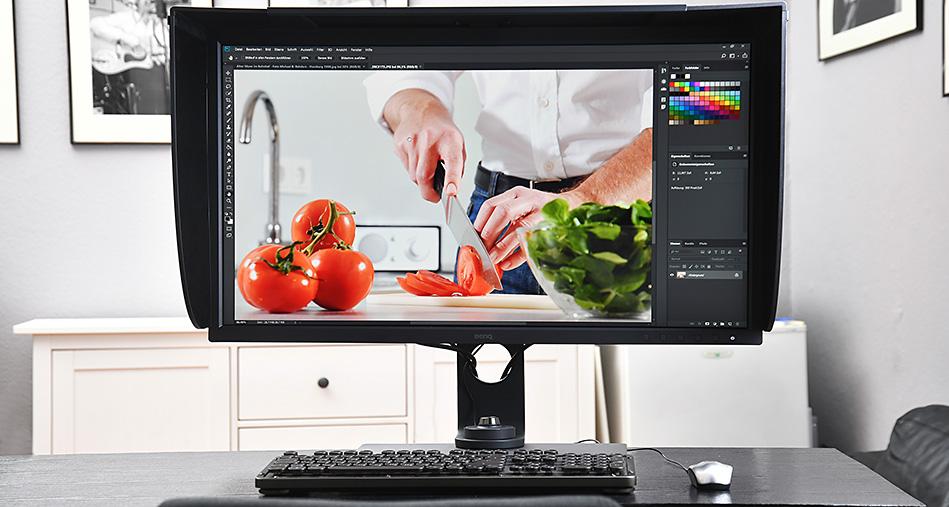 Monitor für Bildbearbeitung im Test beim Profi